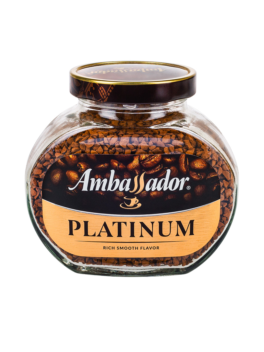 Кофе Ambassador Растворимый Platinum Decaf 95 гр (ст.б.)